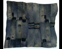 Bars work-clothes quilt Lutisha Pettway c. 1950 Denim, cotton 80