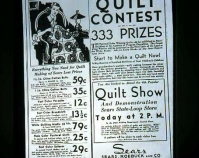 Quilt contest advertisement Shelly Zegart Archives