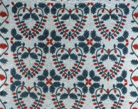 Hearts and Oak Leaves Maker unknown c. 1850 Cotton 88