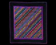 Diagonal Triangles Maker unknown c. 1925-1930 Cotton 81