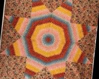 Star of Bethlehem Maker unknown c. 1840 Cotton, cotton chintz 123 ½