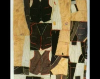 Vests and Pants quilt Maker unknown c. 1900 Wools and cotton Photo by Geoffrey Carr Formerly in the collection of Shelly Zegart