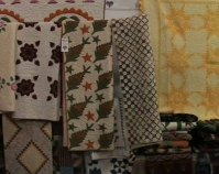 Quilt booth Heart of Country Antique Show Nashville, Tennessee B-roll by Alan Miller