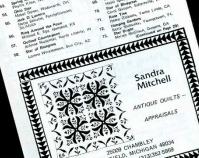 Sandra Mitchell appraisal advertisement Sandra Mitchell Archives Courtesy of Shelly Zegart
