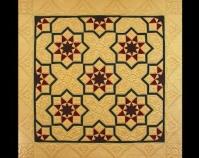 "Federation Tessellation Mariya Waters 2001 Cotton upholstery fabrics, Matilda\'s Own wool/poly  batting 80\"" x 80\"" www.mariyawaters.com"