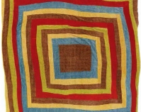 "Bricklayer Variation and Housetop Two-sided quilt Loretta Pettway 1972 Corduroy 86"" x 83"" From Gee's Bend: The Architecture of the Quilt Paul Arnett, Tinwood Books, 2006 Courtesy of Matt Arnett Photo by Pitkin Studio"