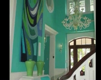 Poem of the Sea Marilyn Henrion Foyer design by Diamond Baratta Design