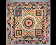 "Star of Bethlehem Maker unknown 1880-1900 Silk, cotton 99"" x 94 ¼"" Item number 1990.15.1 American Folk Art Museum New York, New York www.folkartmuseum.org/quilts"