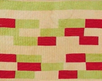 "Multiple columns of rectangles, blocks and bars Essie Bendolph Pettway 1980 Corduroy 93"" x 75\"" From The Quilts of Gee\'s Bend Tinwood Books, 2002 Courtesy of Matt Arnett"