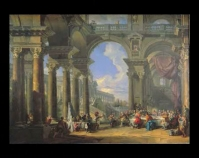"The Wedding at Cana  Giovanni Paolo Panini c. 1725 Oil painting 39 1 / 16 "" x 54""  Museum purchase, Preston Pope Satterwhite Reserve Fund Item number 1959.13 The Speed Art Museum Louisville, Kentucky www.speedmuseum.org"