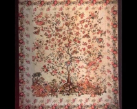 "Tree of Life Maria Boyd Schulz c. 1855 Cotton 108"" x 118"" Item number 1970.013 The Charleston Museum Charleston, South Carolina www.charlestonmuseum.org"