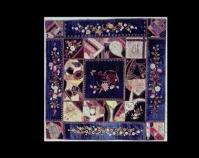 """Crazy Quilt Eugenia Garnett Murray Velvet, satin, ribbons 63 ½"""" x 63 ¼"""" Item number KM 1983.26.1 Kentucky Library & Museum Western Kentucky University Bowling Green, Kentucky www.wku.edu/Library/kylm"""