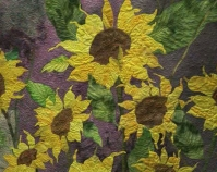 Growing Wild (detail) Donna Ford Entry 2010 American Quilter's Society Show and Contest  Paducah, Kentucky www.americanquilter.com