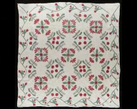 Floral Appliqué Maker unknown 1860 Cotton Collection of Shelly Zegart
