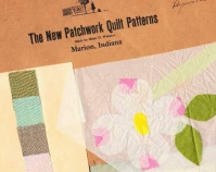 The New Patchwork Quilt Patterns Designer, Marie D. Webster Envelope, the appliqué placement guide made of tissue  paper and a card of linen swatches in suggested colors Collection of Merikay Waldvogel Knoxville, Tennessee