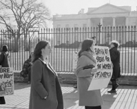 Anti-Vietnam war protest and demonstration in front of the  White House  January 19, 1968  Photo by Warren K. Leffler  Library of Congress  Prints & Photographs Division  Washington, D.C.  Item number LC-DIG-ppmsca-24360  www.loc.gov/pictures