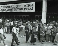Historic photograph of International Quilt Festival  1991  Photo by Richard Cunningham  Quilts, Inc. and International Quilt Festival  Houston, Texas  www.quilts.com
