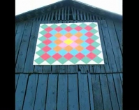 Postage Stamp – Madison County  Photo by Christopher Cathers  Kentucky Quilt Trails Project  Kentucky Arts Council  Frankfort, Kentucky  www.artscouncil.ky.gov/Qtrails