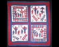 "Bible Scenes Quilt Made by a member of the Drake family c. 1900 - 1910 Cotton, appliqué d 76 ½ "" x 71 "" Photo by Geoffrey Carr From Always There: Th e African - American Presence in American Quilts The Kentucky Quilt Project, Inc., 1992 University of Louisville Archives and Records Center Louisville, Kentucky louisville.edu/library/archives"