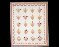 "Garden Bouquet Maker unknown c. 1932 Cotton 81 "" x 94 "" From The American Quilt , Roderick Kiracofe, Clarkson Potter, 2004 Photo by Sharon Risedorph Courtesy of Roderick Kiracofe"