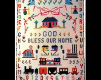 God Bless Our Home Mary Kreyenhangen c. 1940 Cotton Photo by Geoffrey Carr Formerly in the collection of Shelly Zegart