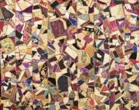 "Crazy Quilt Julia M. Pollitzer 1883 Silks, velvets, cott on 59 "" x 61 ½ "" Item number 1930.246.001 The Charleston Museum Charleston, Sou th Carolina www.charlestonmuseum.org"