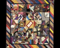 "Crazy Quilt Catherine Hume Simons 1885 - 1890 Silks, velvets 66 "" x 65 "" Item number 1946.01 6 The Charleston Museum Charleston, Sou th Carolina www.charlestonmuseum.org"