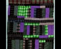 "Strip Quilt Jeff Martin c. 1975 - 1995 Wool 78 "" x 59 "" Item number 2000.004.0060 Robert and Helen Cargo Collection The International Quilt Study Center & Museum University of Nebraska - Lincoln Lincoln, Nebraska www.quiltstudy.org"