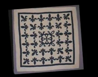 "Fleur de Lis Quilt Sara Miller c. 1900 Cotton 82 ½ "" x 82 ½ "" From Always There: The African - America n Presence in American Quilts The Kentucky Quilt Project Archives University of Louisvill e Archives & Records Center Louisville, Kentucky louisville.edu/library/archives"