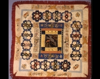 "Liberty Medallion Elizabeth Hobbs Keckley c. 1870 Silk 85 ½ "" x 85 ½ "" From Always There: The African - American Presence in American Quilts The Kentucky Quilt Project Archives University of Lou isvill e Archives & Records Center Louisville, Kentucky louisville.edu/library/archives"