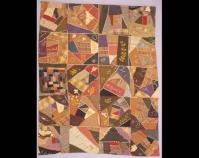 "Crazy Quilt Mima Thompson Perkins c. 1888 - 1890 Wool 82 "" x 61 "" From Always There: The African - American Presence in American Quilts The Kentucky Quilt Project Archiv es University of Louisvill e Archives & Records Center Louisville, Kentucky louisville.edu/library/archives"