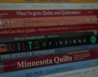 Stack of quilt books Photo by Focal Point