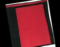"""Two - Sided Geometric Quilt Loretta P. B ennett 2003 Corduroy, velveteen 66 """" x 59 """" From Gee ' s Bend: The Architecture of the Quilt Paul Arnett, Tinwood Books, 2006 Courtesy of Matt Arnett Photo by Pitkin Studio"""