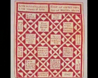 "Pieties Quilt Maria Cadman Hubbard 1848 Cotton 88 ½ "" x 81 "" Photo by John Parnell Gift of Cyril Irwin Nelson Item number 1984.27.1 American Folk Art Museum New York, New York www.folkartmuseum.org"