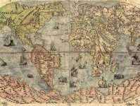 Map of the world from 1500