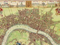 Map of 17th-century London
