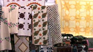 Quilt Booth - Heart of Country Antique Show, Nashville TN