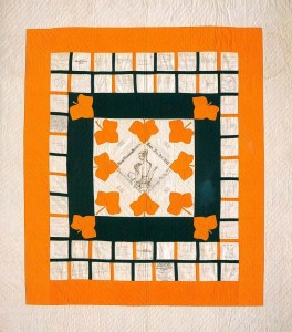 Presentation Quilt By the members of The Young Ladies Sewing Society for Susan Elizabeth Daggett, 1871.