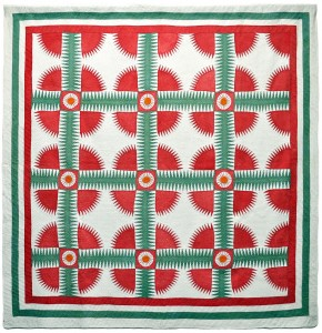 New York Beauty pieced quilt, unknown maker, c. 1850, Kentucky. Photo by Bill Volckening