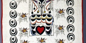 African Mask Adaption Quilt, 1976