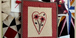 Mom's heart on my design wall - Joan Ciolino