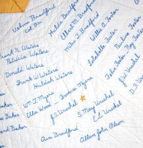 Inscribed Medallion Quilt (1931) - by American Legion Auxiliary, Capital Unit of Post #9, Salem (OR)