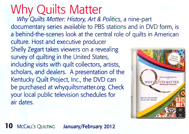 McCalls Quilting Article 2012 Feb-Mar