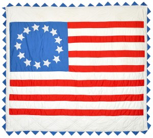 Bicentennial Flag Quilt - Photo courtesy of Bill Volckening