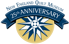 New England Quilt Museum 25th Anniversary Logo