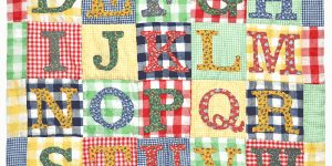 Alphabet Quilt - Back to School, by Bill Volckening