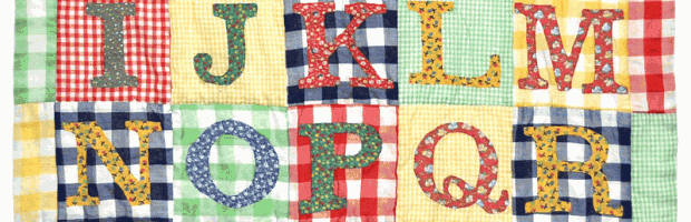 Alphabet Quilt - Back to School, by Bill Volckening