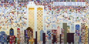 Steel Quilters 9/11 National Tribute Quilt, 2002, 8' x 30', courtesy of the American Folk Art Museum, New York