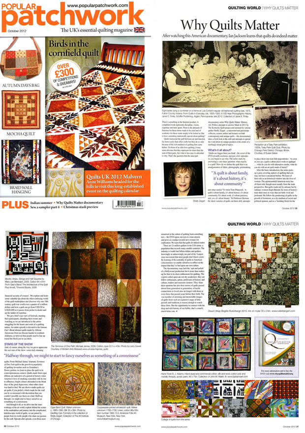 Popular Patchwork Fall 2012 Issue - Why Quilts Matter Review