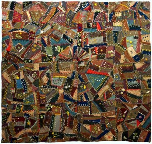 Wool Crazy Quilt, c. 1900, unknown maker, Eastern United States